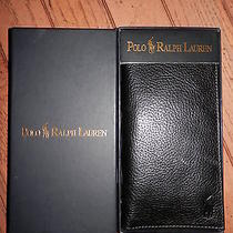 New  Polo Ralph Lauren Leather Check Book Photo