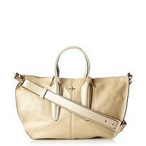 New Pour La Victoire Cecile Large Satchel Bag Purse Nwt Beige Bone Leather 595  Photo