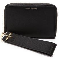 New Pour La Victoire Tech  Wristlet Wallet Black Leather Nwt 128 Iphone  Photo
