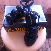 New Pour La Victoire Womens Parkleather Gladiator Sandals 325 Size7 Photo