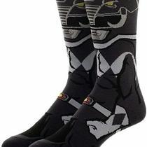 New Power Rangers Black Ranger 360 Character Crew Socks Photo
