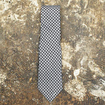 New Prada Blue Diamond Print Silk Tie Genuine Rrp 110 Bnwt Photo