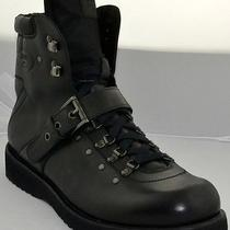 New Prada Calzature Uomo Commander Combat Black Leather Boots M/italy Usa Sz 11 Photo