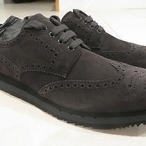 New Prada Mens Shoes Scamosciato Asfalto 4e2601 Size 10 Uk 11 Us Sneakers Lk Photo