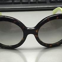 New Prada Round Designer Sunglasses 27n 27ns Qfl 0a7 Havana Green for Women Photo