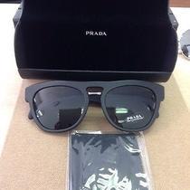 New Prada Sunglasses Spr 10p Matte Black 1bo-1a1 140 3n 54mm Photo