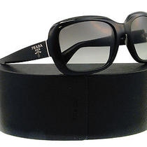 New Prada Sunglasses Spr 17p Black 1ab-3m1 Pr17ps 57mm Photo