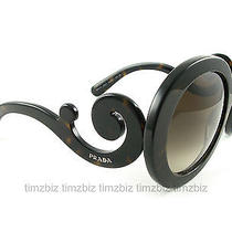 New Prada Sunglasses Spr 27n Dark Havana Minimal Baroque 2au-6s1 Authentic Photo