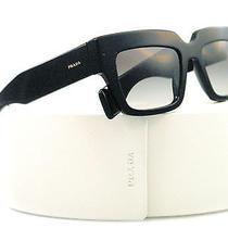 New Prada Sunglasses Spr 28p Black 1ab-0a7 Brown 51mm Photo