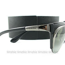New Prada Sunglasses Spr 61o 5av-3m1 Black Gunmetal Authentic Photo