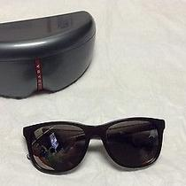 New Prada Sunglasses Sps 03o Matte Black Nas1c0 Sps03o Authentic  55mm  Case Photo