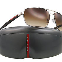 New Prada Sunglasses Sps 55n Brown 1bc-6s1 Sps55n 63mm Photo