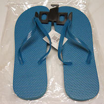 New Pretty Aqua Tourquise Sz 10 Flip Flops Sandals Shoes Nwt Free Ship Photo