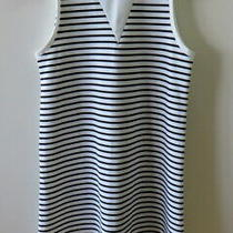 New Pretty Black & White Stripes Dress From Zara Trafaluc - Size S Photo