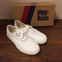 New Pro Keds Women's Padded Canvas Long Wear Comfort Shoe Sneaker White Sz 7.5 Photo