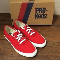 New Pro Keds Women's Padded Canvas Long Wear Comfort Shoe Sneaker Red Sz 8.5 Photo