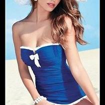 New Profile by Gottex 'Black Tie' Skirted One Piece Bandeau Swimsuit 14 Photo