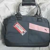 New Puma Golf Weekender Bag Carry on Duffle Gym Shoe Tote Luggage Blue Pink Bnwt Photo