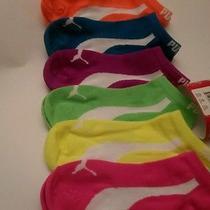 New Puma Women/girl /teens /premium Multi Colors No Show Socks 6 Pair. Size 9-11 Photo