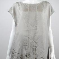 New Pure Dkny Women's Blouse Gray Top L Photo