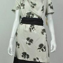 New Pure Dkny Women's  Flower Print Dress L Photo