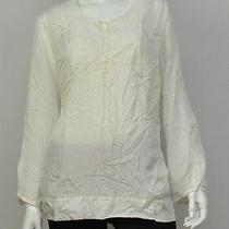 New Pure Dkny Womens  Cream Top S Photo