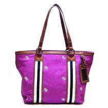 New Purple Canvas Jenny Shopper Satchel Shoulder Bag Hobo Tote Purse Handbag Photo