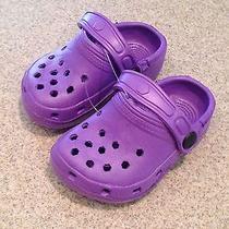 New Purple Croc-Like Slip on Water Proof Shoes Size 6 Photo