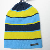 New Quiksilver Surf Snowboard Horizon Aqua Mens Beanie Winter Hat Photo