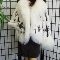 New Rabbit & White Mongolian Lamb Fur Coat for Women Photo