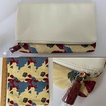 New Rachel Pally Reversible Clutch Bag Floral Bloom Cream Purse Handbag Photo