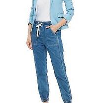 New Rag & Bone Women's Lucy One Button Linen Blend Blazer Jacket - Blue - 16 Us Photo