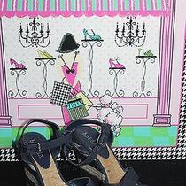 New - Ralph Lauren - Salem Navy Canvas Women's Espadrille Wedges (Shoe Size 10) Photo