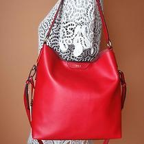 New Ralph Lauren Winchester Leather Hobo Red Nwt 248 Msr Tote Handbag Satchel Photo