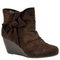 New Rampage Kahlan Ankle Boot 7.5 M Brown Faux Suede Nib Wedge Style Rx980-2  Photo