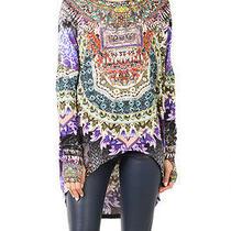 New Rare  Camilla Franks Swarovski Long Sleeve Stretch Tee Kaftan Top Layby  Photo