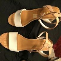 New Rare Coach Sherri Collection Calf Leather Block Heel Cork 9.5 B Photo