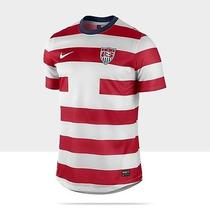 New Rare Nike Usa 2012 Soccer Jersey Waldo Authentic Stripes Red White Men's L Photo