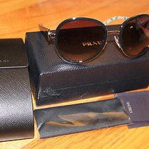 New Rare Prada Prada Sunglasses 0pr 51ns 1bc3m1 Frame Black Lens Grey Photo