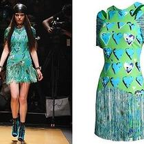 New Rare Versace h&m Art Deco Fringe Flapper Cocktail Party Dress Sz 6  Eur 36  Photo