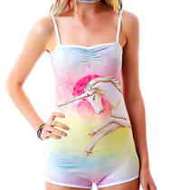 New Rat Baby Dye Unicorn Oh Snap Bodysuit Shorts Jumper Fantasy Dress L Too Fast Photo