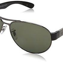 New Ray Ban Active Lifestyle Rb 3509 004/71 Gunmetal / Green 63mm Sunglasses Photo