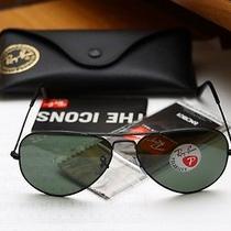 New Ray Ban Aviator Polarized Sunglasses 58mm Photo