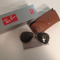 New Ray-Ban Aviator Rb 3026 L2846 62mm Gold / Green Lens Sunglasses Photo