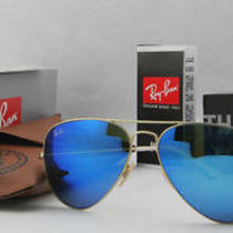 New Ray Ban Aviator Sunglasses Bronze Gold 112/17 Flash Blue Lens 58mm Nwt  Photo