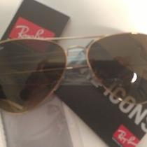 New Ray Ban Aviator Sunglasses Gold Frame  Rb 3025 001/51  Gradient Brown  62mm Photo
