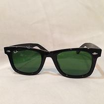 New Ray Ban Black Wayfarer Sunglasses  Rb 2140 901 50mm Nwt 100% Authentic Photo