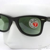 New Ray Ban Original Wayfarer Polarized Light Green Sunglasses Rb2140 901s05 50 Photo