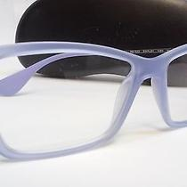 New Ray Ban Prescription Eyeglasses Rb Rx 7022 5368 Clear Violet Rubber Frame 54 Photo