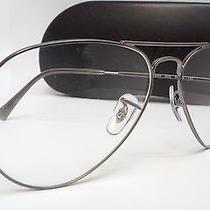 New Ray Ban Prescription Eyeglasses Rb6049 2620 Gunmetal Frame 55mm Rx 6049 Photo